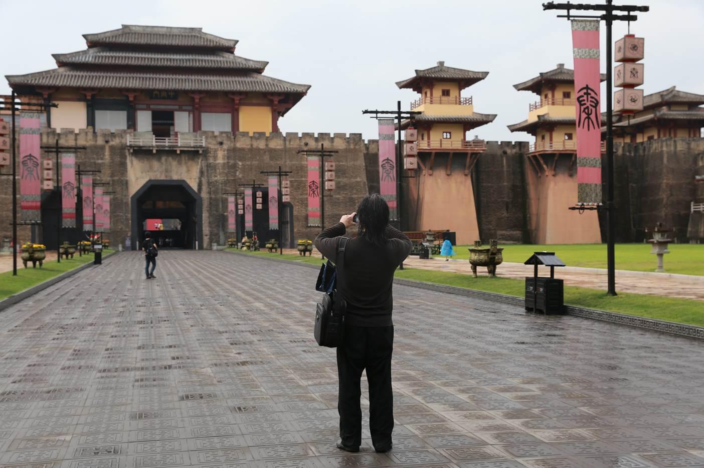 秦王宮的細節也是動畫製作團隊考察重點之一