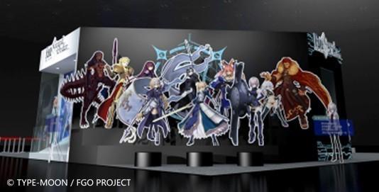 御主們在從者展示區可與遊戲人氣英靈合照(此為3D模擬示意圖)。