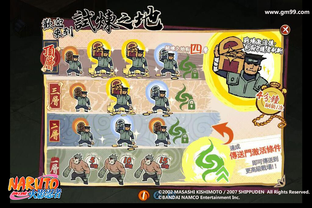 【image2】晉級條件與每層敵人配置