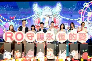 唯晶數位副總經理陳家瑩、營運長潘人豪、實況主及RO角色為活動揭開序幕