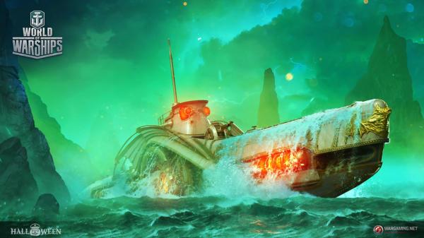 WoWS_Halloween_Submarine_Artwork