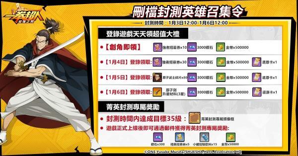 【GAMENOW新聞稿用圖02】《一拳超人:最強之男》繁中版菁英封測登錄、專屬獎勵等你來拿!